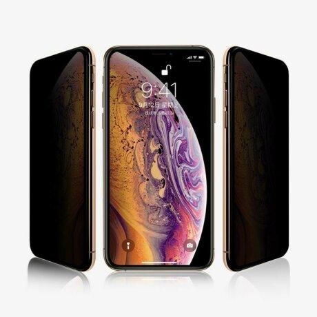 FOLIE STICLA PRIVACY TEMPERED GLASS IPHONE FULL COVER IPHONE 8 PLUS / 7 PLUS NEGRU