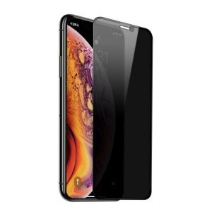 FOLIE STICLA PRIVACY TEMPERED GLASS IPHONE FULL COVER IPHONE  XS MAX