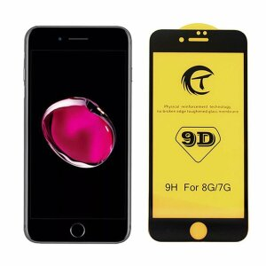 FOLIE STICLA TEMPERED GLASS 9D IPHONE iPhone 7/8/SE NEAGRA