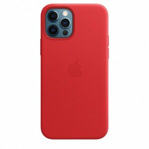 Husa de protectie Apple Leather Case MagSafe pentru iPhone 12 / 12 Pro RED Rosu