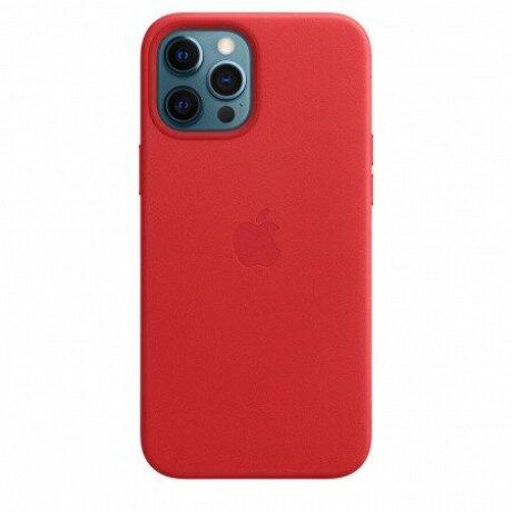 RESIGILAT Husa de protectie din piele Apple Leather Case MagSafe pentru iPhone 12 PRO MAX RED