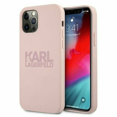 Karl Lagerfeld iPhone 12/12 Pro Silicone Stack Logo Roz