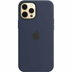 Resigilat - Husa de Silicon Apple pentru iPhone 12/ 12 PRO - Albastru inchis - Deep Navy