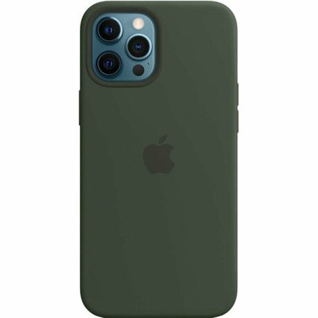 Resigilat - Husa de Silicon Apple pentru iPhone 12/ 12 PRO - Cyprus Green / Verde
