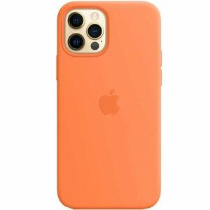 Resigilat - Husa de Silicon Apple pentru iPhone 12/ 12 PRO - Kumquat - Portocaliu