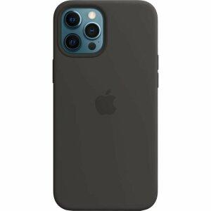 Resigilat - Husa de Silicon Apple pentru iPhone 12/ 12 PRO - Negru - Black
