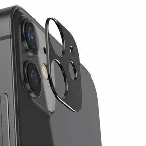 Folie de sticla metalica Lito pentru camera iPhone 12 - Black