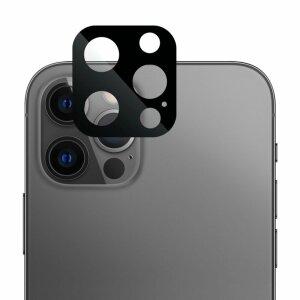 Folie de sticla metalica Lito pentru camera iPhone 12 Pro - Black