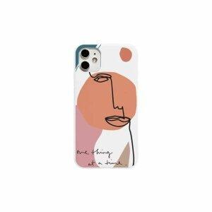 Husa de silicon cu model ART pentru iPhone 12 / 12 Pro