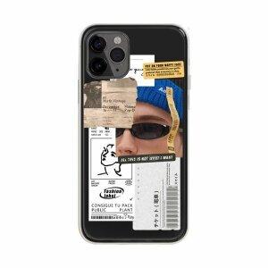 Husa de silicon cu model Fashion Label Albastru pentru iPhone XS / X