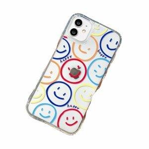 Husa de silicon cu model Smiley pentru iPhone 7 / 8 / SE2020