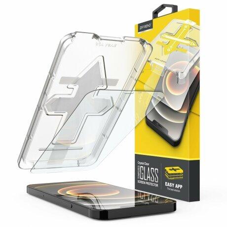 Folie de sticla 2.5D cu Kit de instalare pentru iPhone 8 / 7 / 6S / 6 Sistem de montare