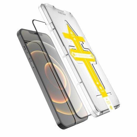 Folie de sticla 3D cu Kit de instalare pentru iPhone 12 / 12 Pro Negru Sistem de montare