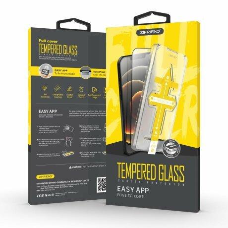 Folie de sticla 3D cu Kit de instalare pentru iPhone 12 Pro Max Negru Sistem de montare