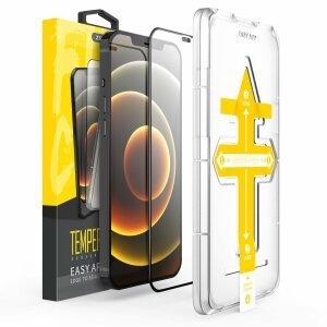 Folie de sticla 3D cu Kit de instalare pentru iPhone 7 / 8 / SE 2020 Negru Sistem de montare