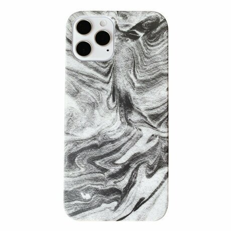 Husa de protectie Marble Alb pentru iPhone 12 / 12 Pro