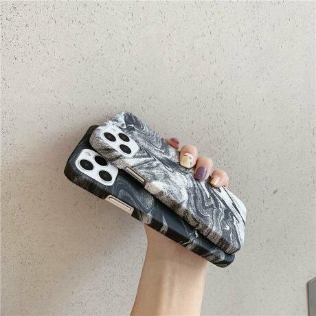 Husa de protectie Marble Negru pentru iPhone 11 Pro Max