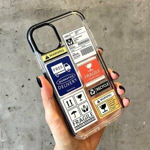 Husa de silicon cu model Ticket pentru iPhone 12 / 12 Pro