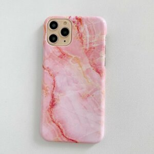 Husa Hard Marble Roz pentru iPhone X / XS