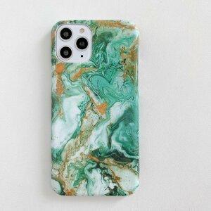 Husa Hard Marble Verde pentru iPhone 12 / 12 Pro