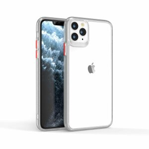 Husa telefon transparenta PC Case with TPU Bumper pentru iPhone 11 Pro
