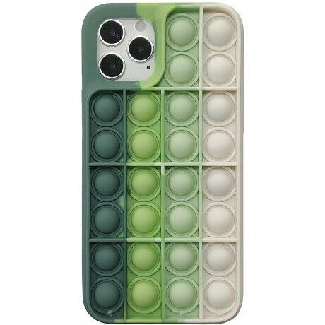 Husa Anti Stres Poping Green White pentru iPhone 11 Pro