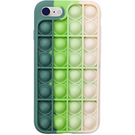 Husa Anti Stres Poping Green White pentru iPhone 12 Pro Max