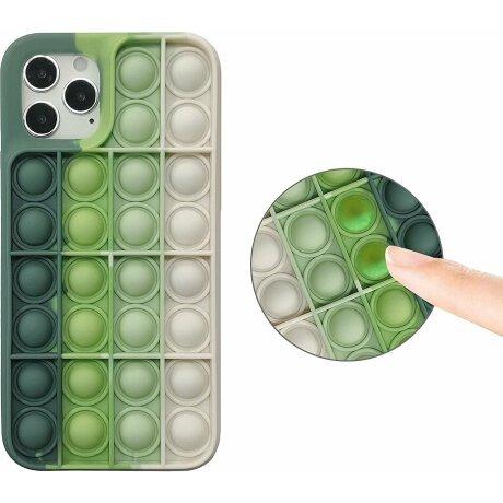 Husa Anti Stres Poping Green White pentru iPhone XS Max