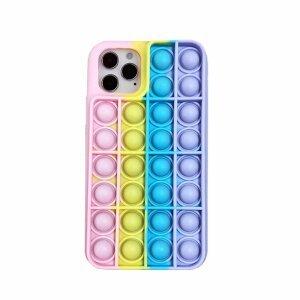 Husa Anti Stres Poping Rainbow pentru iPhone 11 Pro Max