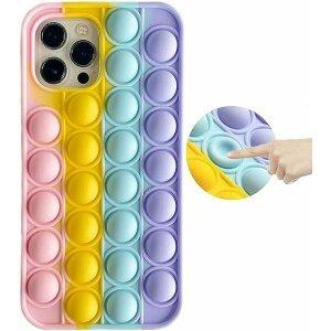 Husa Anti Stres Poping Rainbow pentru iPhone 12 Mini