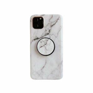 Husa cu popsocket elegance white pentru iPhone 12 / 12 Pro