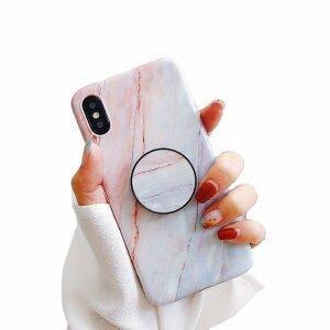 Husa cu popsocket elegance whitered pentru iPhone X / XS