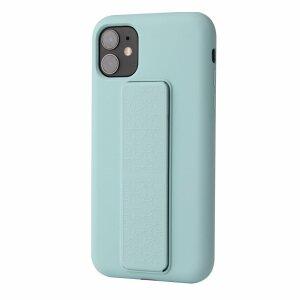 Husa de silicon green stand cu suport selfie incorporat pentru iPhone 12 / 12 Pro