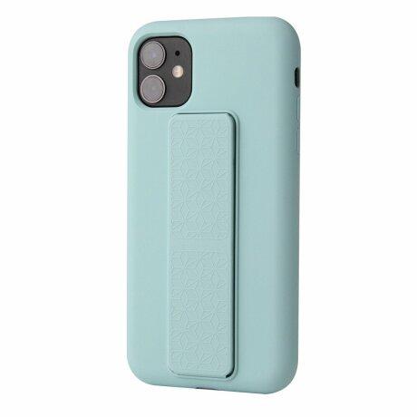 Husa de silicon green stand cu suport selfie incorporat pentru iPhone 7 / 8 / SE2020