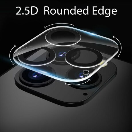 Folie de sticla Lito S+ pentru camera iPhone 12 Pro - Black