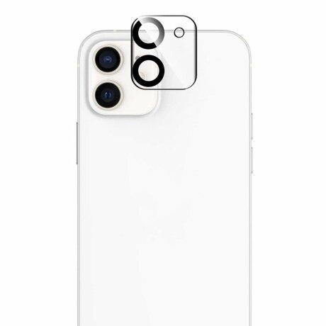 Folie de sticla Lito S+ pentru camera iPhone 12 Pro - Black/Transparent