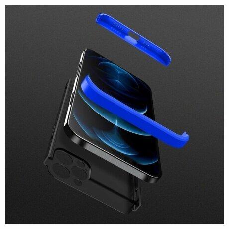 Husa 360 GKK Full Cover cu folie de sticla pentru iPhone 12 Pro Max Albastru - Blue