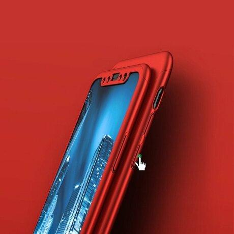 Husa 360 GKK Full Cover cu folie de sticla pentru iPhone 12/12 Pro Rosu - Red