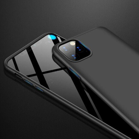 Husa 360 GKK Full Cover cu folie de sticla pentru iPhone 7 /8 / SE2020 Negru - Black