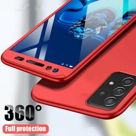 Husa 360 GKK Full Cover cu folie de protectie pentru Samsung Galaxy S10 Rosu - Red