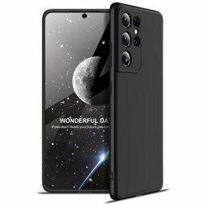 Husa 360 GKK Full Cover cu folie de sticla pentru Samsung Galaxy A42 Negru - Black