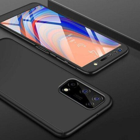 Husa 360 GKK Full Cover cu folie de sticla pentru Samsung Galaxy A72 Negru - Black