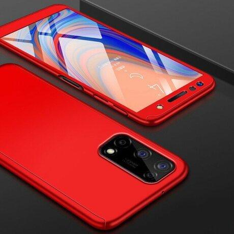 Husa 360 GKK Full Cover cu folie de sticla pentru Samsung Galaxy S21 Ultra Rosu - Red