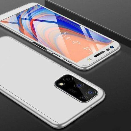 Husa 360 GKK Full Cover cu folie de protectie pentru Samsung Galaxy S20 Plus Gri - Silver