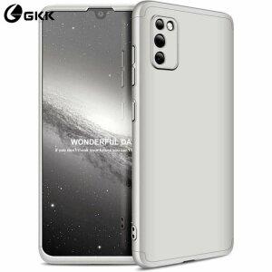 Husa 360 GKK Full Cover cu folie de sticla pentru Samsung Galaxy A51 Gri - Silver
