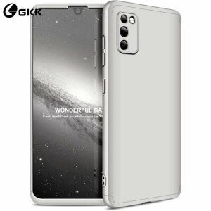 Husa 360 GKK Full Cover cu folie de sticla pentru Samsung Galaxy A72 Gri - Silver