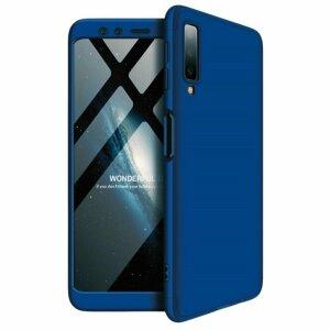 Husa 360 GKK Full Cover cu folie de sticla pentru Samsung Galaxy S21 Plus Albastru - Blue