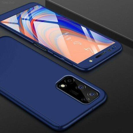Husa 360 GKK Full Cover cu folie de sticla pentru Samsung Galaxy A42 Albastru - Blue