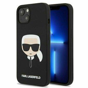 "Husa de silicon Karl Lagerfeld KLHCP13LSLKHBK iPhone 13 6,1"" Negru"