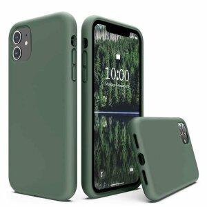 Husa de silicon Techsuit iphone 13 Pro- Verde Inchis